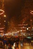 Menigte op Champs Elysees Stock Fotografie