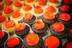 Menigte van cupcakesclose-up Royalty-vrije Stock Fotografie