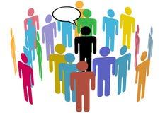 Menigte van de Sociale Spreker van de Mensen van het Team van Media royalty-vrije illustratie