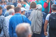 Menigte van mensen bij 83ste Traditionele Landbouwmarkt in Novi Sa Royalty-vrije Stock Foto