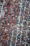 Menigte van mensen in een lange rij Royalty-vrije Stock Foto's
