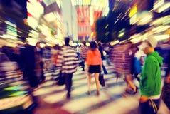 Menigte Voet het Lopen Japan Concept stock afbeelding