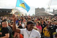 Menigten bij Notting-Heuvel Carnaval Royalty-vrije Stock Afbeelding
