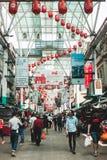 Menigten bij Petaling-Straat Kuala Lumpur Malaysia Stock Afbeeldingen