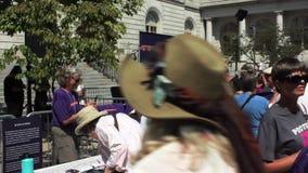 Menigten die zich voor Unite voor Rechtvaardigheid Event in Portland, Maine verzamelen