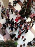 Menigtescène bij Kerstmis Royalty-vrije Stock Foto