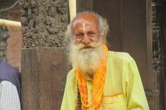Menin ascétique religieux Népal de Sadhu image libre de droits