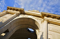 The Menin Gate exterior. The Menin Gate memorial to the missing soldiers of the First World War, in Ypres (Belgium Royalty Free Stock Images