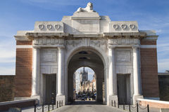 Menin Gate. Memorial to the Missing in Ypres, West Flanders, Belgium royalty free stock images