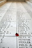 Menin Gate Roll of Honour Royalty Free Stock Photos