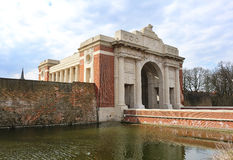 Menin Gate War Memorial at Ieper Belgium Stock Images
