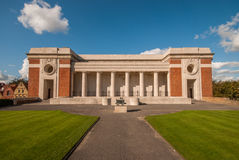 Menin Gate in Ypres, Flanders. The first world war memorial in Ypres (Ieper) called the Menin Gate (Menenpoort). Dedicated to the British soldiers killed during Stock Photos