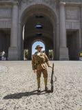 Menin Gate in Ypres. Soldier outside Menin Gate in Ypres Belgium stock images