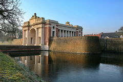 Menin portminnesmärke på Ypres Royaltyfria Foton