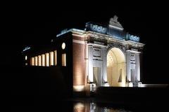 Menin 's nachts Poort Royalty-vrije Stock Afbeeldingen