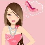 Menina à moda Imagem de Stock