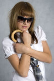 Menina à moda fotografia de stock