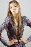 Menina à moda do encanto da elegância Fotos de Stock