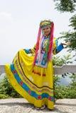 Menina étnica chinesa no vestido tradicional Imagens de Stock