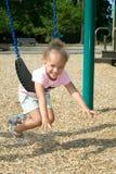 Menina étnica nova no balanço Imagem de Stock