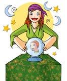 Menina 01 do Augur com fundo Fotos de Stock Royalty Free