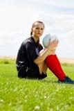Menina 1 do futebol Imagens de Stock Royalty Free