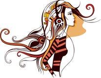 Menina ilustração royalty free