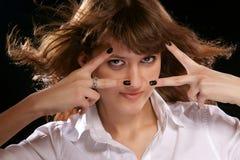A menina. fotos de stock