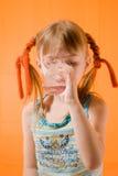 A menina. fotografia de stock
