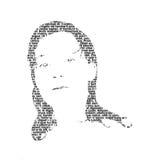 Menina 2 do texto Imagens de Stock Royalty Free