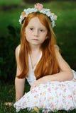Menina 4 do jardim Imagem de Stock