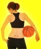 Menina #6 do basquetebol Foto de Stock