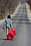 Menina abandonada Fotos de Stock Royalty Free