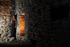 Menina abandonada de Goth Imagens de Stock Royalty Free