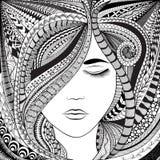 Menina abstrata do cabelo ilustração stock