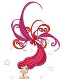 Menina abstrata do lollipop ilustração royalty free