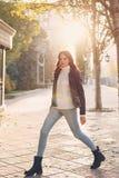 Menina adolescente à moda imagem de stock royalty free