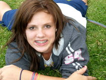 Menina adolescente Fotografia de Stock Royalty Free