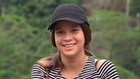 Menina adolescente adorável e sorrindo fotos de stock