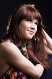 Menina adolescente bonita com cabelo reto longo Imagens de Stock