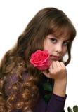 Menina-adolescente com cabelos longos. Fotografia de Stock