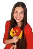 Menina adolescente com flores Foto de Stock Royalty Free