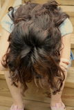 A menina adolescente comprimiu Foto de Stock Royalty Free