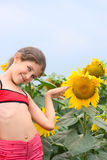 Menina adolescente da beleza Fotos de Stock