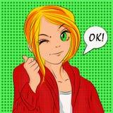Menina adolescente da ilustração para folhetos relativos à promoção ou outro Imagem de Stock Royalty Free