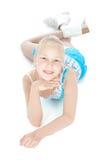 Menina adolescente da patinagem de gelo Imagem de Stock