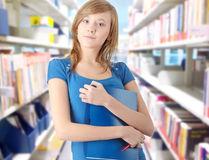 Menina adolescente do estudante imagem de stock royalty free