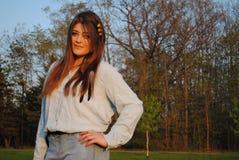 Menina adolescente elegante Imagens de Stock