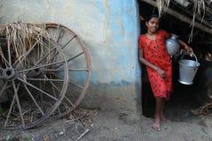 Menina adolescente em India rural Fotos de Stock