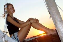 Menina adolescente encantador Imagens de Stock